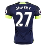Arsenal 16/17 27 GNABRY Third Soccer Jersey