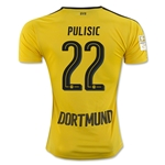 Borussia Dortmund 16/17 PULISIC Home Soccer Jersey