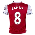 Arsenal 16/17  8 RAMSEY Youth Home Soccer Jersey