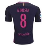 Barcelona 16/17 A. INIESTA Authentic Away Soccer Jersey