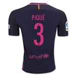 Barcelona 16/17 PIQUE Authentic Away Soccer Jersey