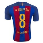 Barcelona 16/17 A. INIESTA Authentic Home Soccer Jersey