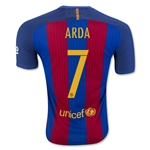 Barcelona 16/17 ARDA Authentic Home Soccer Jersey