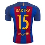 Barcelona 16/17 BARTRA Authentic Home Soccer Jersey