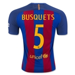 Barcelona 16/17 BUSQUETS Authentic Home Soccer Jersey