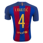 Barcelona 16/17 I. RAKITIC Authentic Home Soccer Jersey