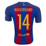 Barcelona 16/17 MACSHERANO Authentic Home Soccer Jersey