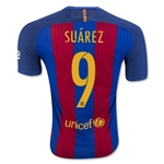 Barcelona 16/17 SUAREZ Authentic Home Soccer Jersey