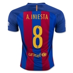 Barcelona 16/17 A. INIESTA Home Soccer Jersey