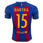Barcelona 16/17 BARTRA Home Soccer Jersey