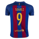 Barcelona 16/17 SUAREZ Youth Home Soccer Jersey