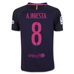 Barcelona 16/17 A. INIESTA Youth Away Soccer Jersey