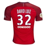 Paris Saint-Germain 16/17 DAVID LUIZ Away Soccer Jersey