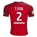 Paris Saint-Germain 16/17 T. SILVA Away Soccer Jersey