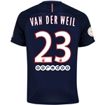 Paris Saint-Germain 16/17 VAN DER WEIL Home Soccer Jersey