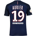 Paris Saint-Germain 16/17 AURIER Authentic Home Soccer Jersey