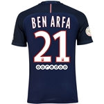 Paris Saint-Germain 16/17 BEN ARFA Authentic Home Soccer Jersey