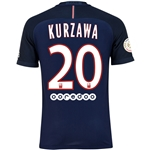 Paris Saint-Germain 16/17 KURZAWA Authentic Home Soccer Jersey