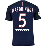 Paris Saint-Germain 16/17 MARQUINHOS Authentic Home Soccer Jersey