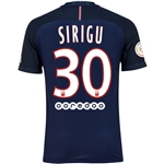 Paris Saint-Germain 16/17 SIRIGU Authentic Home Soccer Jersey