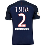 Paris Saint-Germain 16/17 T. SILVA Authentic Home Soccer Jersey