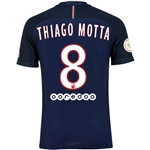 Paris Saint-Germain 16/17 THIAGO MOTTA Authentic Home Soccer Jersey