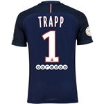Paris Saint-Germain 16/17 TRAPP Authentic Home Soccer Jersey