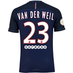 Paris Saint-Germain 16/17 VAN DER WEIL Authentic Home Soccer Jersey