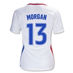 USA 2016 MORGAN Women's Home Soccer Jersey