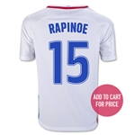 USA 2016 RAPINOE Youth Home Soccer Jersey