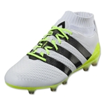adidas Ace 16.1 Primeknit FG/AG Women's (White/Black/Solar Yellow)