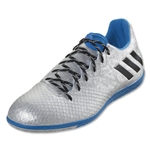 adidas Messi 16.3 IN (Silver Metallic/Black/Shock Blue)
