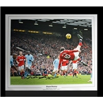 Signed Wayne Rooney Overhead Kick Photo