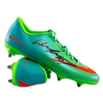 Signed Wayne Rooney Green Mercurial Cleat