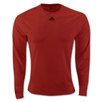 adidas ClimaLite LS T-Shirt (Red)