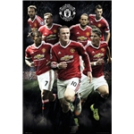 Manchester 15/16 United Players Poster