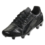 PUMA King II SL FG (Black/Black/Dark Shadow)