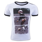 Zion Rootswear Bob Marley Soccer Panel T-Shirt (White)