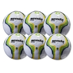 Senda Rio Futsal Club Ball 6 Pack (Green/Yellow)