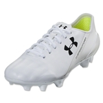 Under Armour Speedform CRM LTHR FG (White/White/Black)