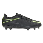 Nike Junior Hypervenom Phelon II FG (Black/Volt)