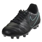 Nike Junior Tiempo Legend 6 FG (Black/Hyper Turquoise)