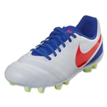 Nike Junior Tiempo Legend 6 FG (White/Bright Crimson)