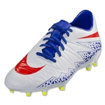 Nike Women's Hypervenom Phelon II FG (White/Bright Crimson)