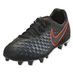Nike Junior Magista Opus II FG (Black/Total Crimson)