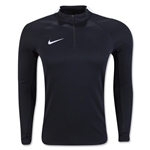 Nike Squad Drill 3/4 Zip Long Sleeve Top (Black)