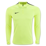 Nike Squad Drill 3/4 Zip Long Sleeve Top (Neon Yellow)