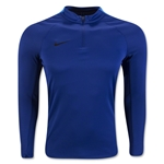 Nike Squad Drill 3/4 Zip Long Sleeve Top (Royal Blue)