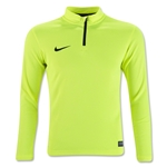 Nike Youth Squad Drill 3/4 Zip Long Sleeve Top (Neon Yellow)