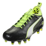 Puma evoTouch 1 FG Junior (Black/White/Safety Yellow)